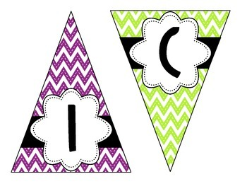 Bright Chevron Welcome Sign Bunting