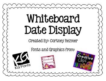 Bright Chevron Whiteboard Date Display