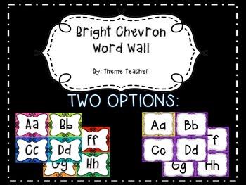 Bright Chevron Word Wall