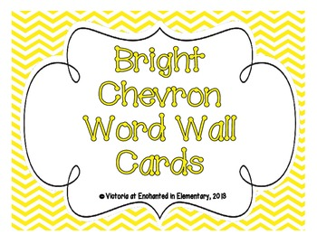 Bright Chevron Word Wall Cards