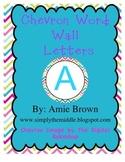 Bright Chevron Word Wall Circles