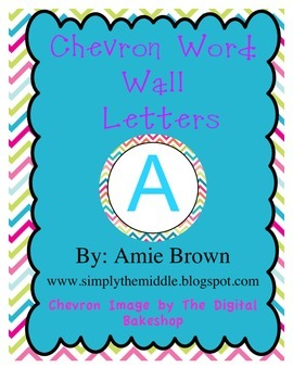Bright Chevron Word Wall Circles