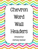 Bright Chevron Word Wall Headers
