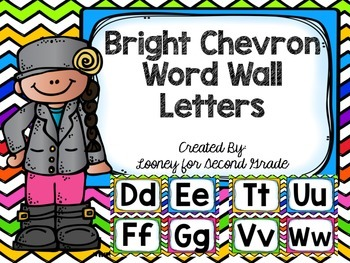 Bright Chevron Word Wall Letters
