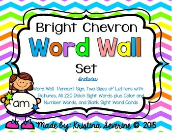 Bright Chevron Word Wall Set