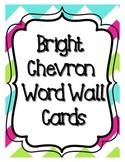 Bright Chevron Word Wall Word Cards