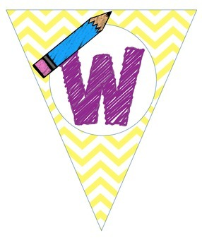 Bright Chevron Writing Banner