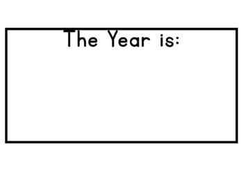 Bright Chevron Year Calendar Cards