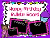 Bright Chevron and Black Happy Birthday Bulletin Board Set