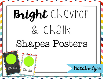 Bright Chevron and Chalk Shapes Mini-Posters