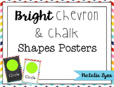 Bright Chevron and Chalk Shapes Mini-Posters