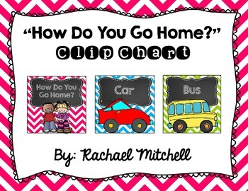 """Bright Chevron and Chalkboard """"How Do You Go Home?"""" Clip Chart"""