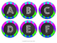 Classroom Label Set - Months, Subjects, Supplies, Letters