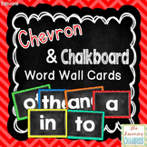 Bright Chevron and Chalkboard Word Wall Cards: Editable, C