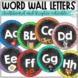 Word Wall Letters Chalkboard and Brights