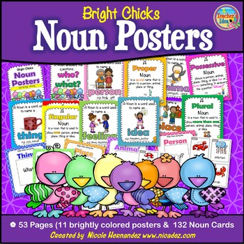 Noun Posters with Sorting Activity