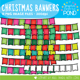 Bright Christmas Banners {Clipart}