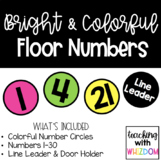 Bright Circle Floor Numbers