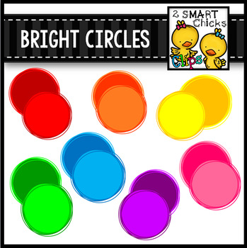Bright Circles Clip Art Bundle FREEBIE