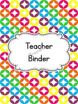 Bright Circles Teacher Binder Cover