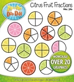 Citrus Fruit Fractions Clipart {Zip-A-Dee-Doo-Dah Designs}