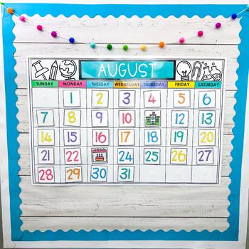 Bright Classroom Calendar Set