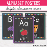 Bright Classroom Decor - Alphabet Posters