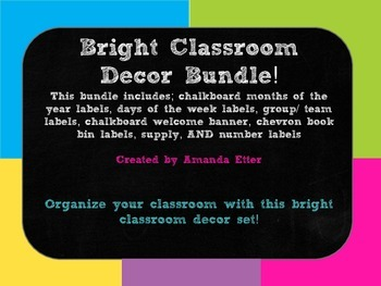 Bright Classroom Decor Bundle