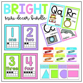 Bright Classroom Decor- Bundle
