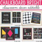 Chalkboard Brights Classroom Decor BUNDLE - Chalkboard Cla