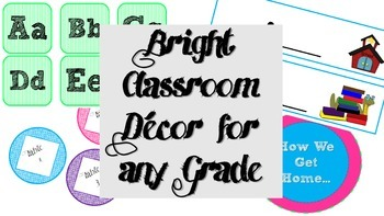 Bright Classroom Decor - Starter Pack
