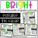 Bright Classroom - EDITABLE (The Bundle)