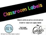 Bright Classroom Labels
