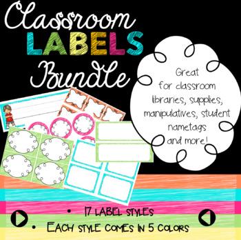 Bright Classroom Labels EDITABLE