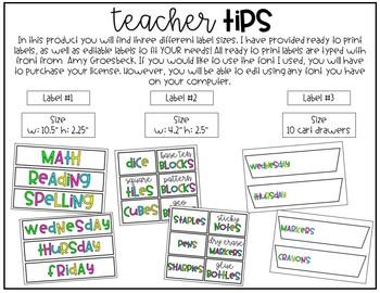 Bright Classroom Labels - EDITABLE