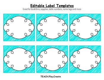 Bright Classroom Labels EDITABLE Freebie