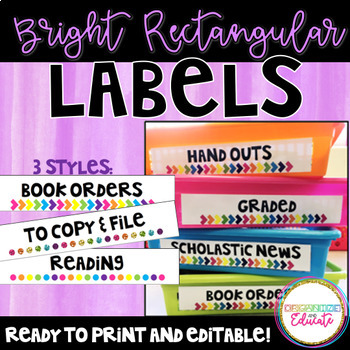 Horizontal Bright Classroom Labels- Editable