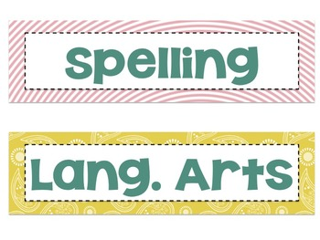 Bright Classroom Labels, word wall letters and Signs {Color Burst} BUNDLE