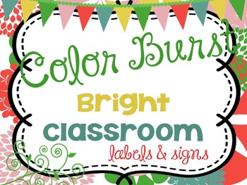 Bright Classroom Labels, word wall letters and Signs {Colo