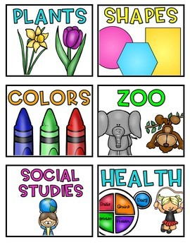Bright Classroom Library Labels- EDITABLE
