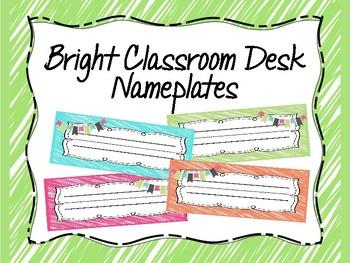 Bright Classroom Nameplates