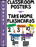 SIMPLE & CLEAN: Skin-tone Number Posters -or- Take Home Fl