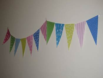 Classroom Pennants: bright patterns - 10 ft.