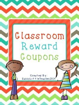 Bright Classroom Reward Coupons