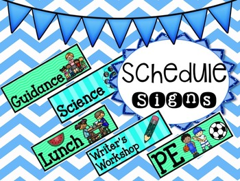 Bright Classroom Schedule Cards