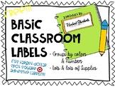 Bright Classroom labels - fit Target dollar spot square ad