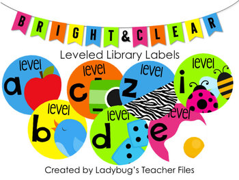 Bright & Clear Leveled Labels (with Pictures)