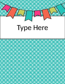Bright Color Binder Covers