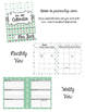 Mint & Tribal Design 2016-2017 Calendar {Month Across 2 Pa