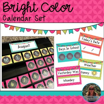 Bright Color Calendar Set